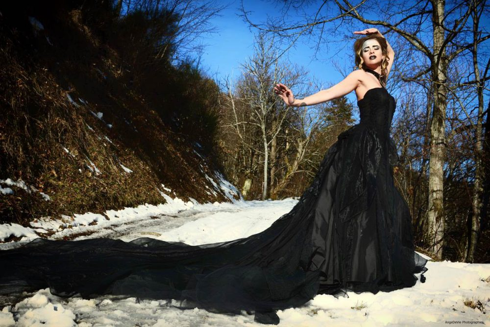 robe mariage noire